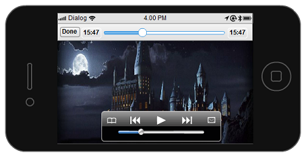 iPhone mockup template of the video player