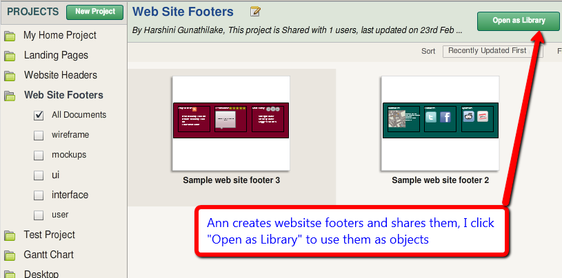 Use Shared Projects as libraries