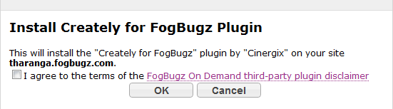 Install Creately in Fogbugz on demand
