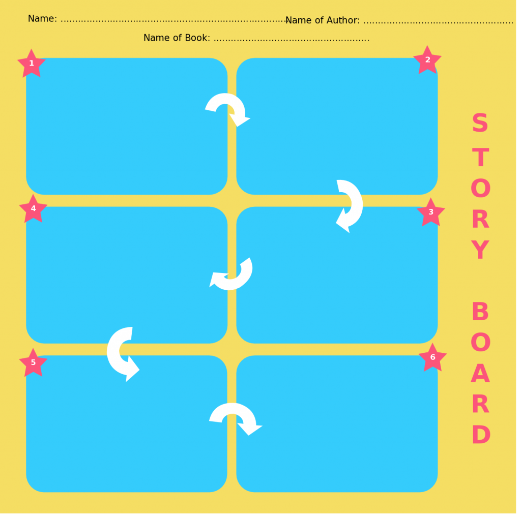 Storyboard templates with unique designs for kids and general usage colorful storyboard templates saigontimesfo