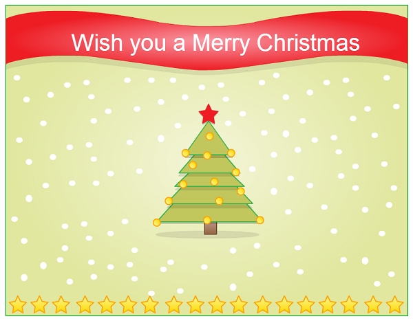 Seasons greeting cards by creately for christmas and new year christmas greeting card with a christmas tree m4hsunfo