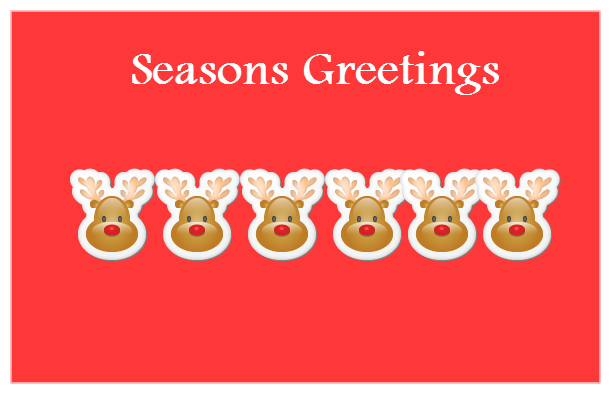 Seasons greeting cards by creately for christmas and new year seasons greeting cards with reindeer m4hsunfo