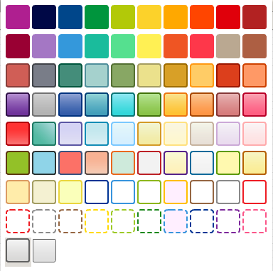 Preset color palette