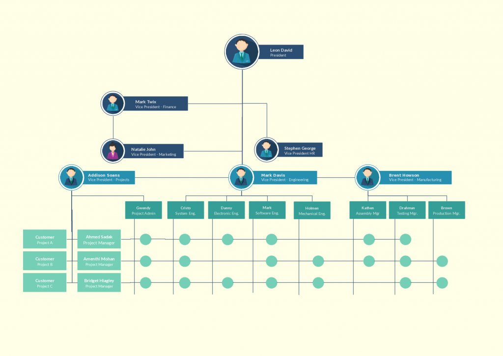 types of organizational charts organization structure types for