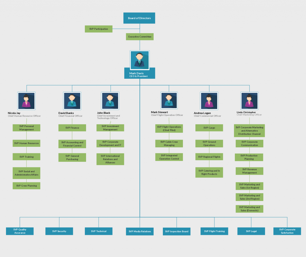 org chart template for airline - Free Org Chart Template
