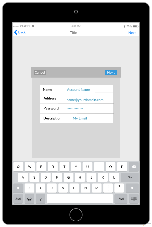iPad - Add Mail Account