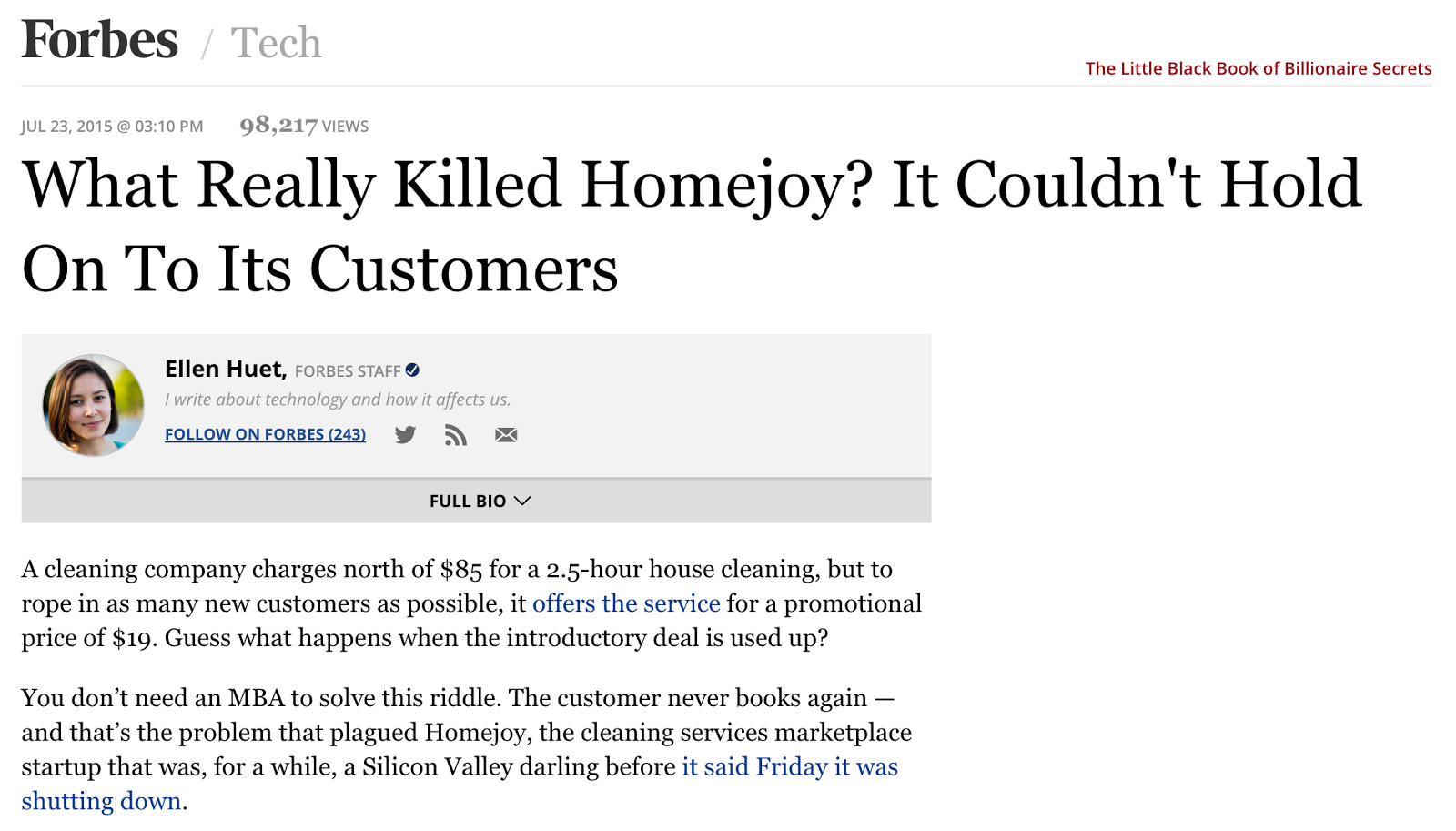 New Story - Homejoy announces its shut down