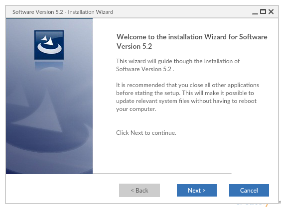 UI Mockup Template of a Software Installation Wizard
