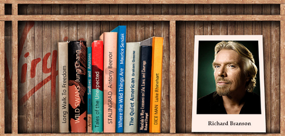 Richard Branson might wow you with his impressive bookshelf