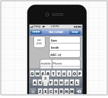 iPhone diagram example with the keypad object
