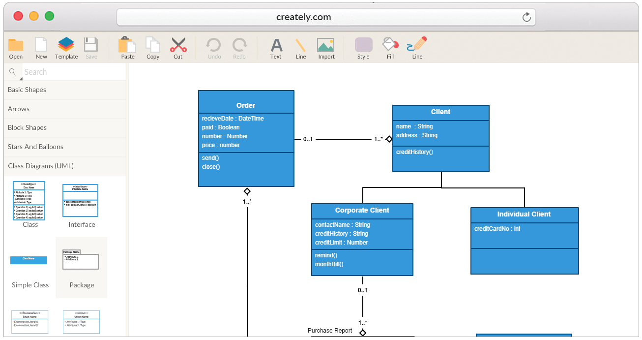 Uml class diagram tool windows diy enthusiasts wiring diagrams create class diagrams online with creately uml rh creately com object diagram uml diagram tool windows ccuart Images