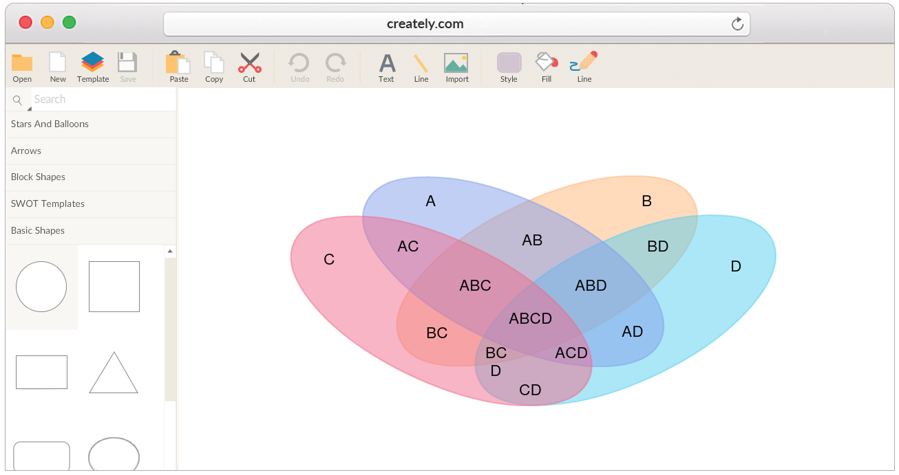 Draw venn diagrams online easily using our tools tools and templates to detailed venn diagrams ccuart Choice Image