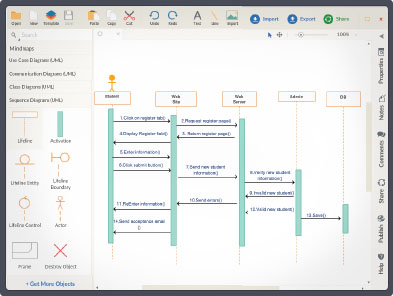 Create uml diagrams online in seconds no special tools draw create sequence diagrams online sequence diagram tool draw diagram online ccuart Choice Image
