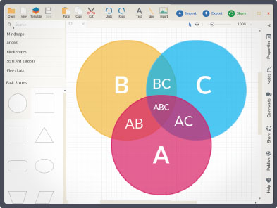 Draw Venn Diagrams Online Easily Using Our Tools