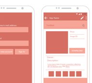 some screen mockups of an android app - Mockups For Android