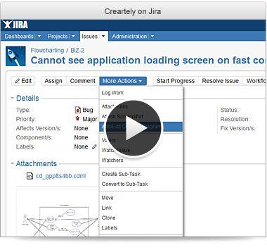 Jira for creately demo video