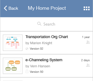 Browse and manage your diagrams