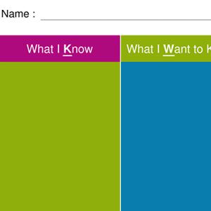 KWL Chart Template (A4)