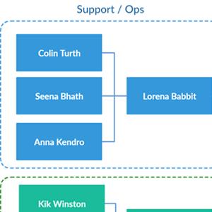 Flat Organization Chart Template