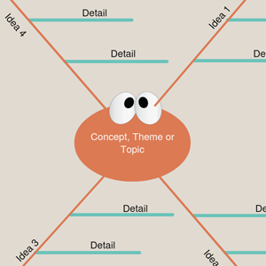 Blank Spider Diagram Template 1