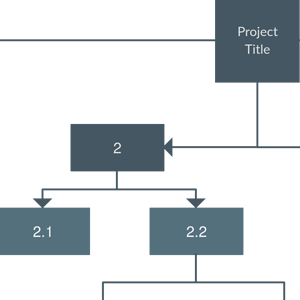 Work Breakdown Structure Template for a Company Project