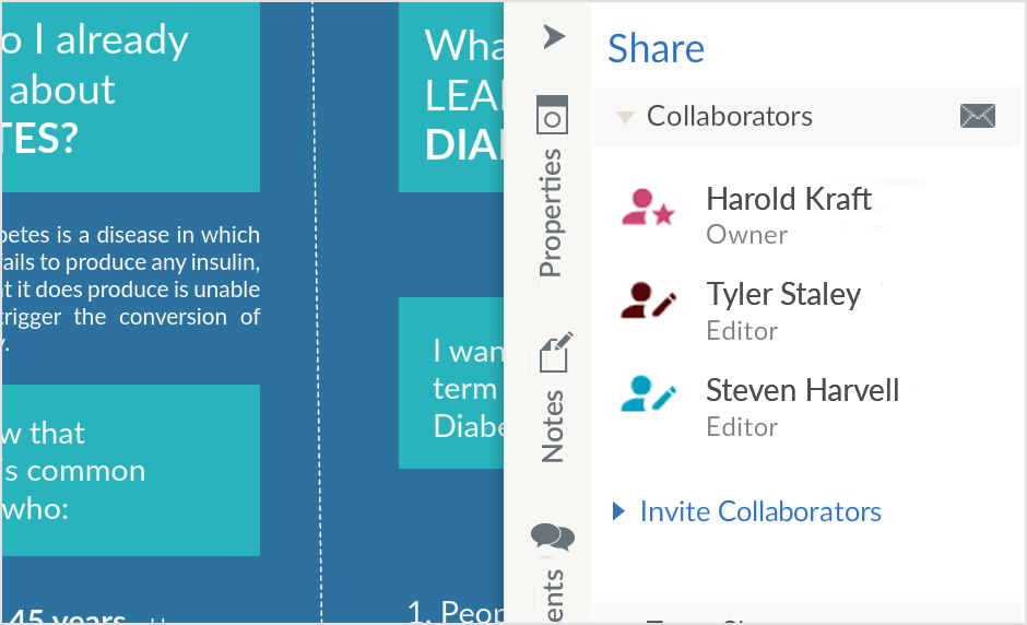 Create Graphic Organizers Together with Real-Time Collaboration