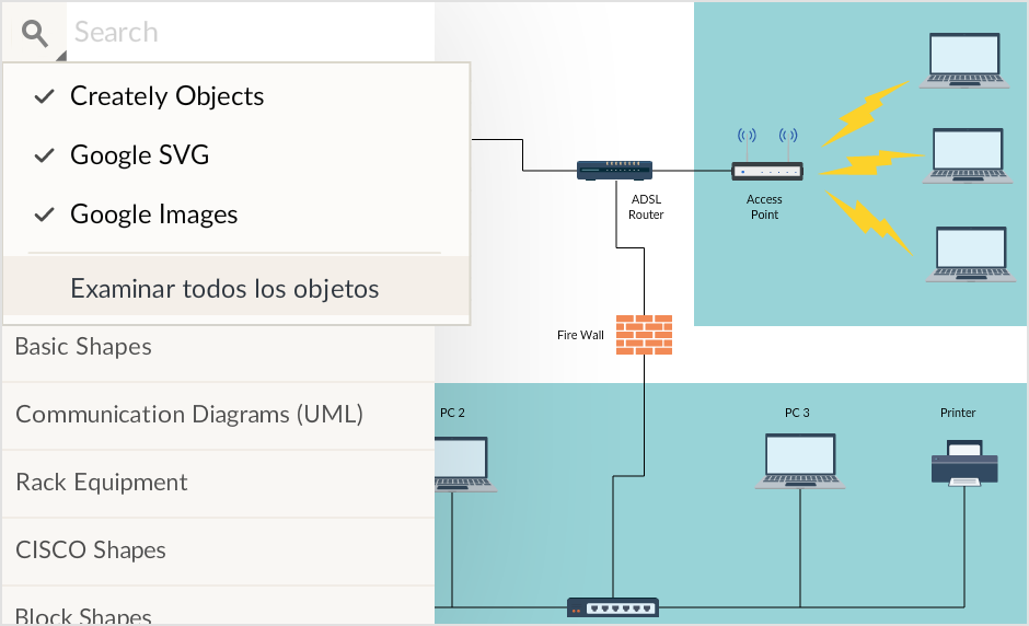 Software de diagramas de red con características únicas