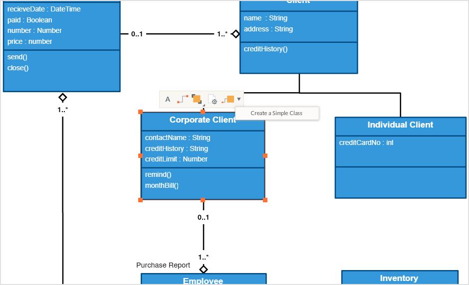 Dibuje diagramas UML y colabore más rápido utilizando nuestras funcionalidades específicas de UML