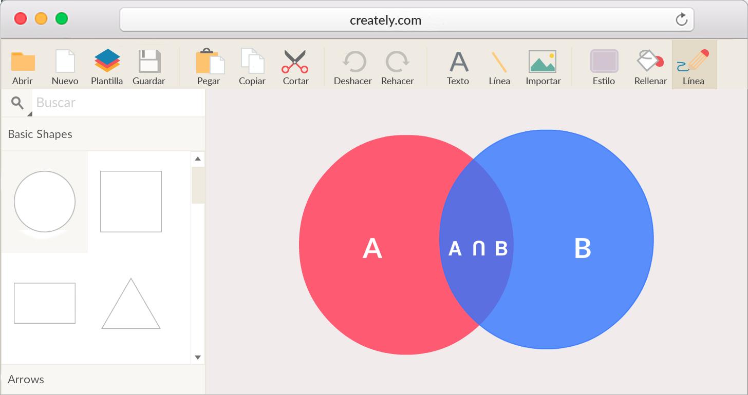Creador de diagramas de Venn