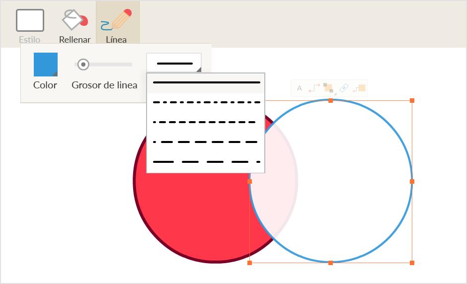 Utiliza nuestra herramienta de uso fácil para dibujar bonitos diagramas de Venn