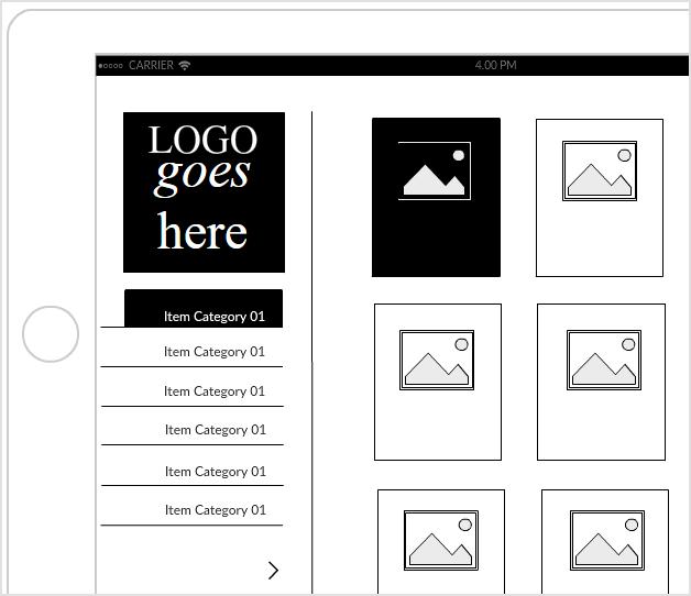 Fashion App Store Mockup - iPad