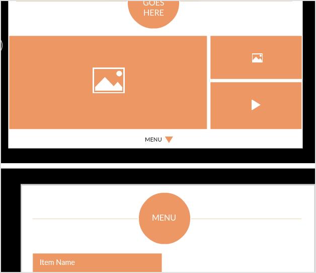 iPad resaurant app mockup