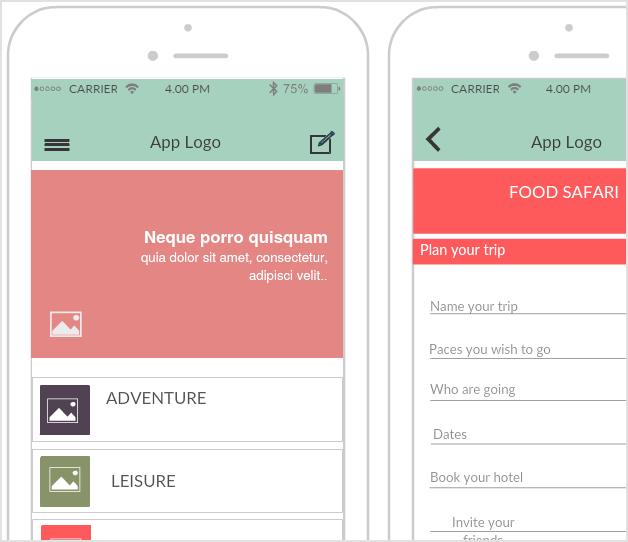 Traveling Guide App Mockup