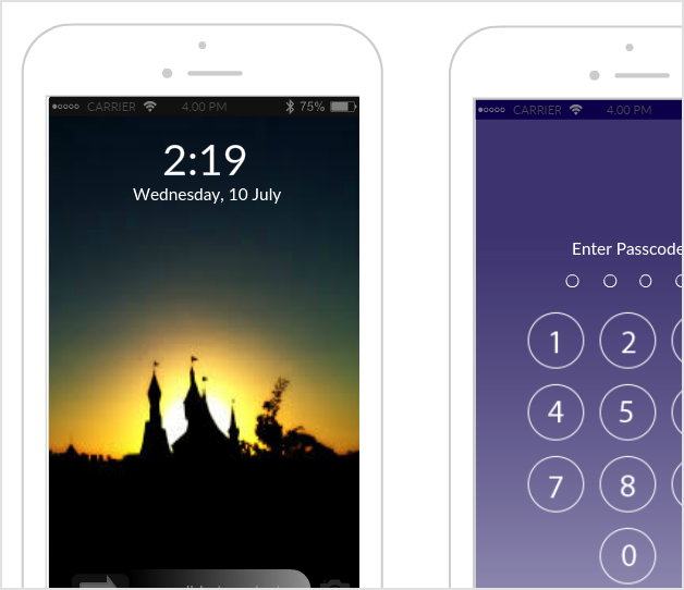 iPhone Lock Screen Mockup