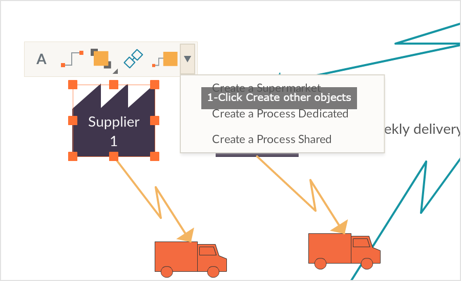 Value Stream Map (VSM) creator with simple drawing shortcuts