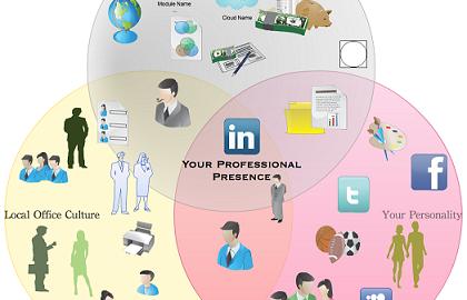 Professional Presence Venn Diagram