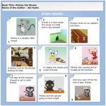 A completed storyboard templates