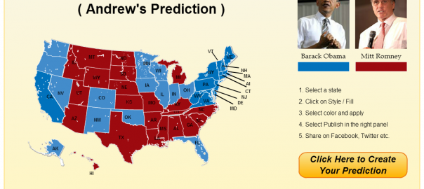 Predict US presidential results using info-graphics