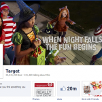Target Facebook page, a social media site where every brand should be present