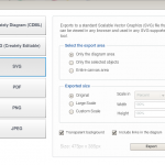 options available to users when exporting diagrams