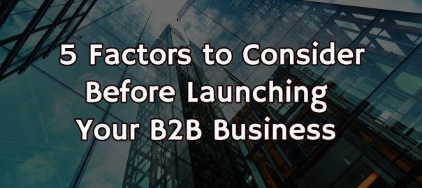 start a B2B business