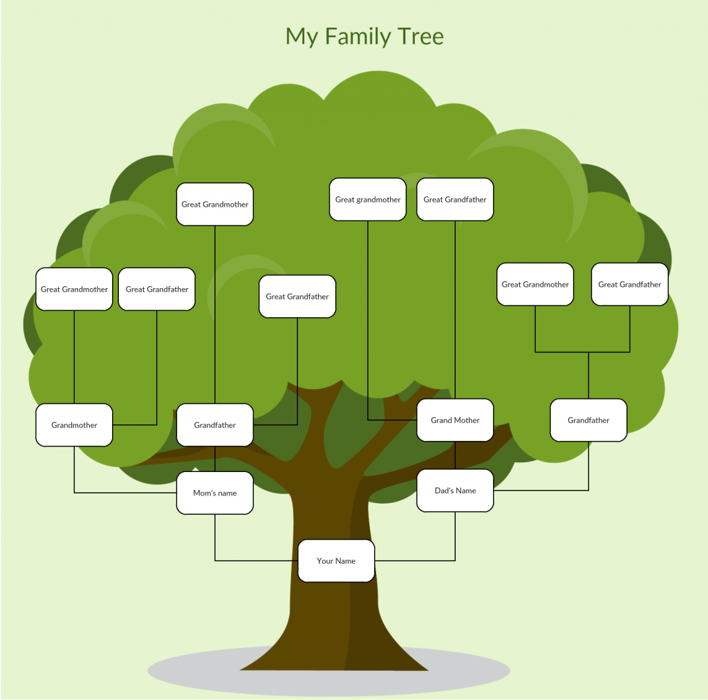 Family tree templates to create family tree charts online for Picture of a family tree template