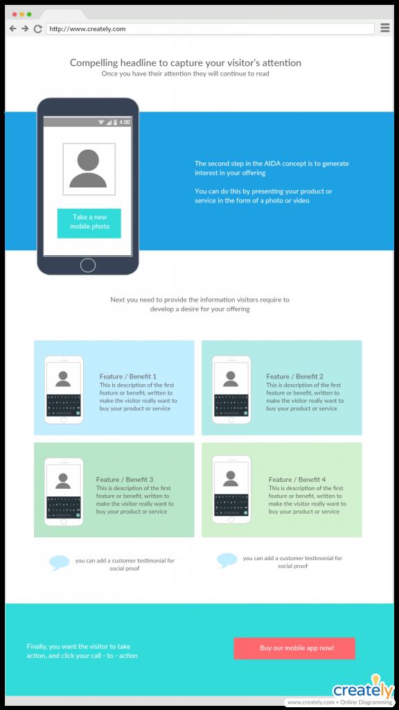 Landing Page UI Mockup