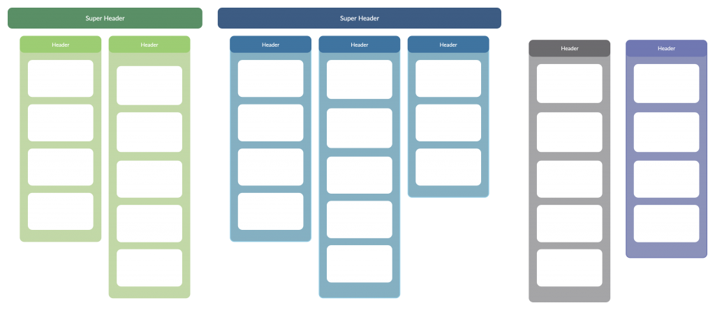 Super Header Affinity Diagram Example