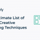 The Ultimate List of Visual Creative Thinking Techniques for Your Next Great Idea