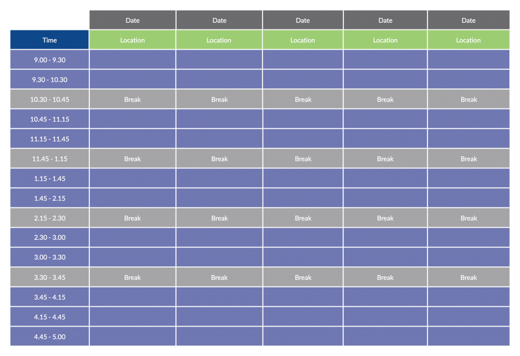 Event Schedule Template - How to plan an event