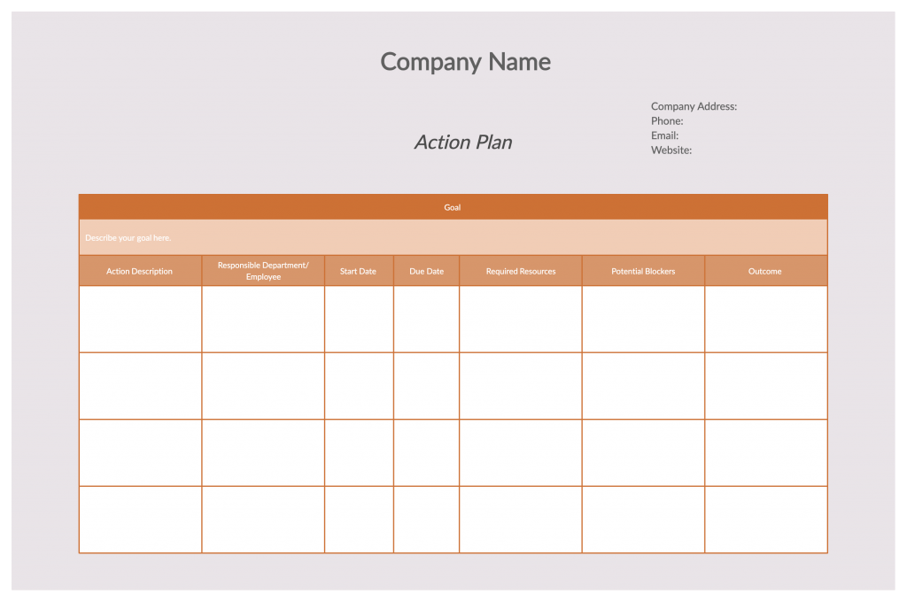 Business Action Plan How to write an action plan
