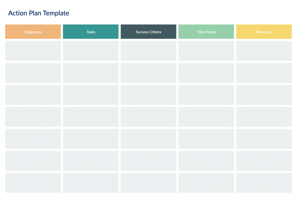 Action Plan Template for Remote Meetings