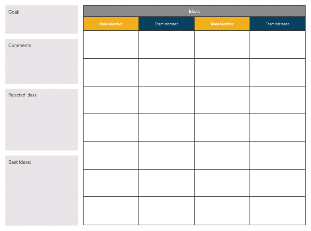 Idea Board Template for Remote Meetings