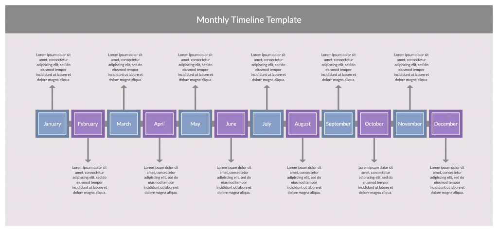 Monthly Timeline Template